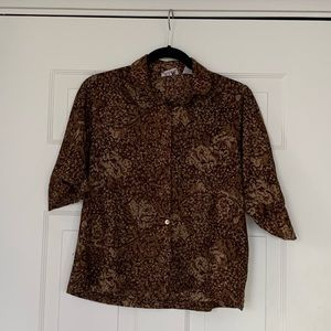 Vintage Brown Button Down